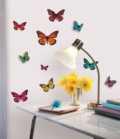 Wall Decor Stickers Walmart by Butterfly 3 D Wall Decals Walmart Ca