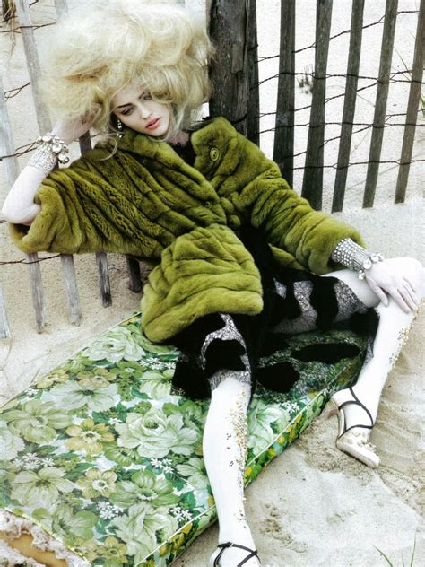 from obscure to demure Sasha Pivovarova by Craig McDean