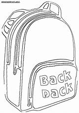 Backpack Coloring Pages Backpack1 sketch template