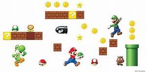 Nintendo Super Mario Bros Build A Scene Wall Stickers