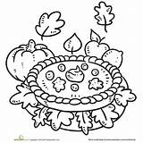 Coloring Pages Fall Printable Pumpkin Pie Thanksgiving Autumn Parents Print Harvest Contest Julian Food Apple Printables Festival Fun sketch template