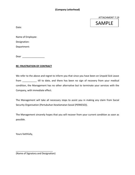company letterhead attachment  date