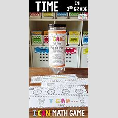 3rd Grade Telling Time & Elapsed Time Game  Math Center Ideas  Math Games  Guided Math