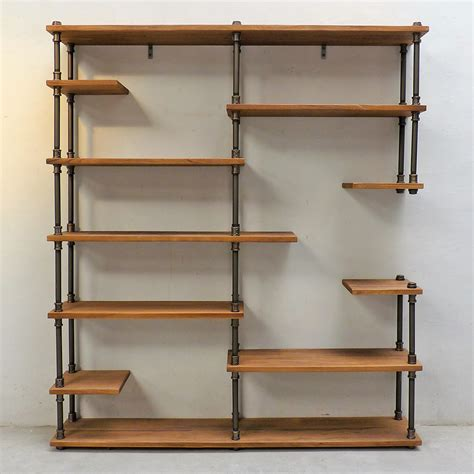 Industrial Etagere by Nashville Industrial Mid Century Etagere Bookcase