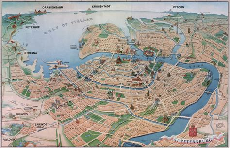 siege med lyon st petersburg tourist map st petersburg mappery