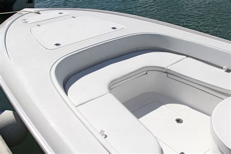 Bay Boats With Front Seating by The Front Deck Has Room For Three Easily