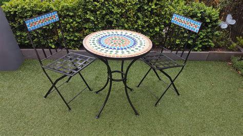 meubles de jardin en fer avec motif mosa 239 que 2 chaises et une table ronde catawiki