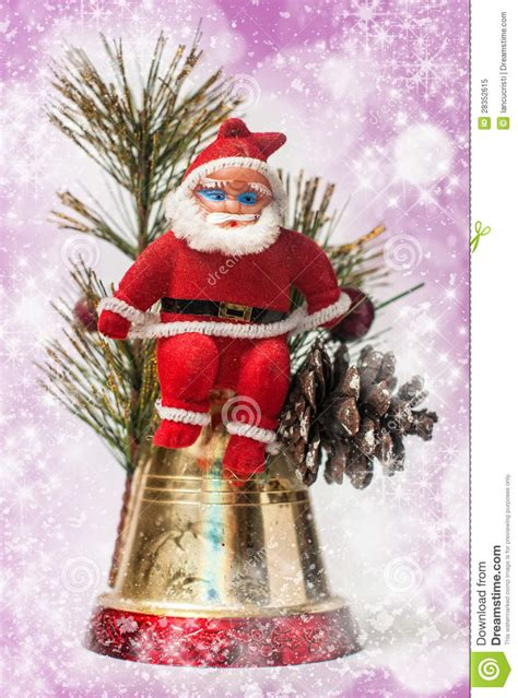 christmas decoration with santa claus royalty free stock