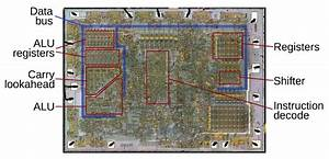 Die Photo Of The 8008 Microprocessor  Showing Important