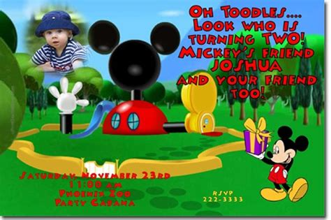 mickey mouse clubhouse birthday invitations  jpg