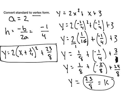 convert equation from vertex form to standard calculator tessshebaylo