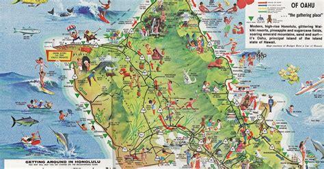 maps oahu tourist map