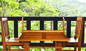 Table de balcon en bois d'acacia Groupon Shopping