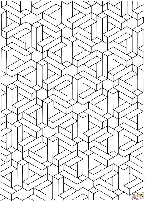 Kleurplaat E by Optical Illusion Coloring Pages To And Print For Free
