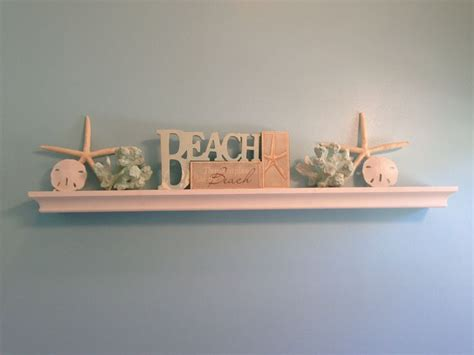 beach theme bathroom shelf home decor pinterest
