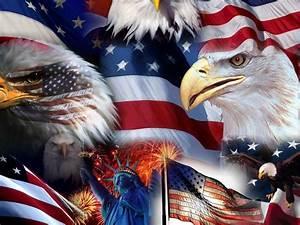 american symbols bald eagle statue us flag statue of