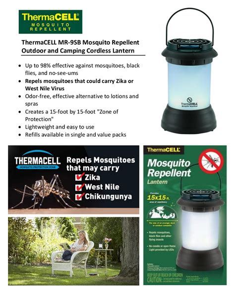 thermacell mosquito repellent pest control outdoor and
