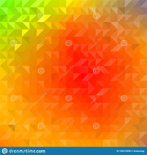 Colorful Rainbow Color Gradient Abstract Geometric Shape