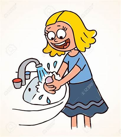 Washing Wash Hands Clipart Hand Cartoon Cleanliness