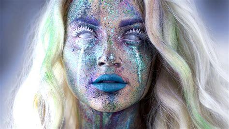 avant garde splatter makeup tutorial youtube
