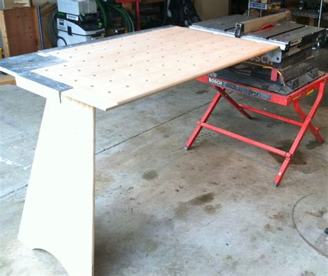 portable table saw outfeed table portable table saws bosch or dewalt thisiscarpentry
