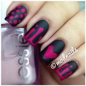 Black Wedding - Black & Pink Nails By @modnails #2034127 ...
