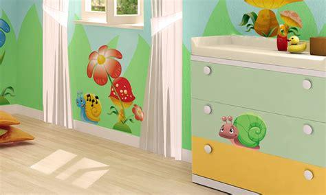Stickers Per Camerette Bambini by Stickers Murali Bambini Cameretta Amici Giardino
