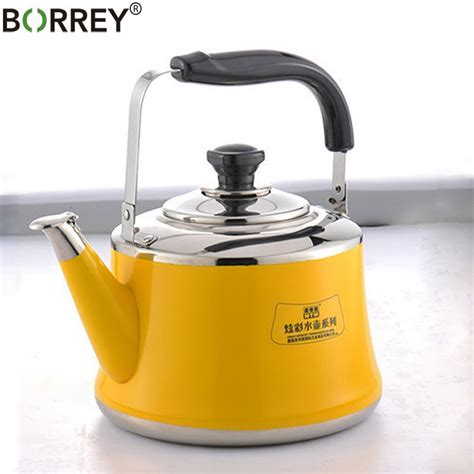 kettle induction cooker whistling gas stove camping steel stainless pot kettles bouilloire water theapollobox 2l