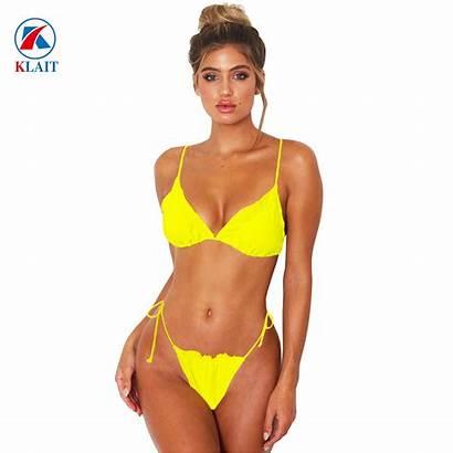 Bikini Yellow Micro Extreme China String Swimsuit