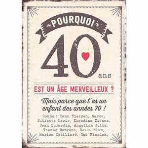Cadeau Homme 40 Ans : carte double pourquoi 40 ans est un ge merveilleux cadeau maestro ~ Teatrodelosmanantiales.com Idées de Décoration