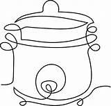 Cooker Pressure Vector Clipart Pixabay sketch template