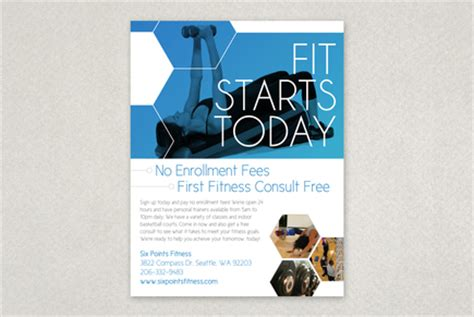 modern fitness flyer template inkd