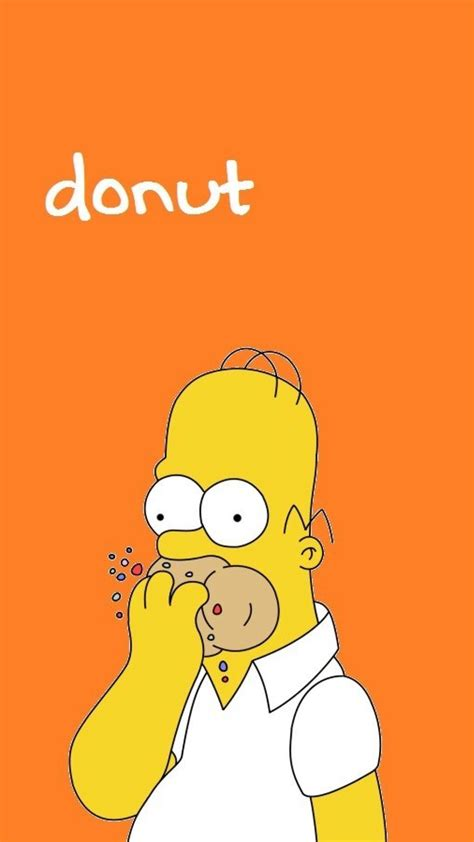 yellow homer simpson donuts  simpsons hungry wallpaper