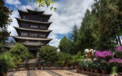 Pagoda Lijiang Baggrund Wallpapers 4k China Yunnan