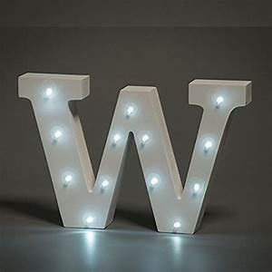 white wooden led letter w lights 6 inch wooden letters With letter light decor