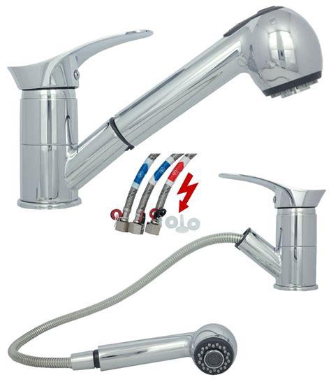 armatur küche ausziehbar niederdruck waschbecken sp 252 ltisch k 252 chen armatur ausziehbar wasserhahn in chrom ebay