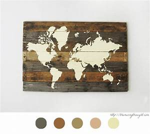Cadre Carte Du Monde : j 39 adore le do it yourself diy mappemonde diy ~ Dailycaller-alerts.com Idées de Décoration