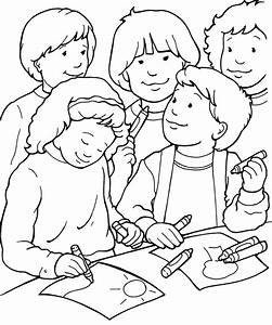 friends coloring pages for preschoolers - i can be a friend coloring page