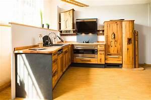 Massivholz kuchen wohnraum8 for Massivholz küche