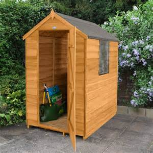 wooden 4x6 apex overlap garden shed rush it uk