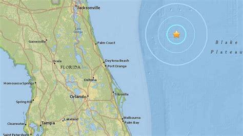earthquake hits  coast  daytona beach florida