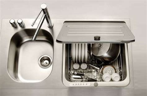 compact kitchen sinks compact small space dishwasher fits into kitchen sink slot 2405