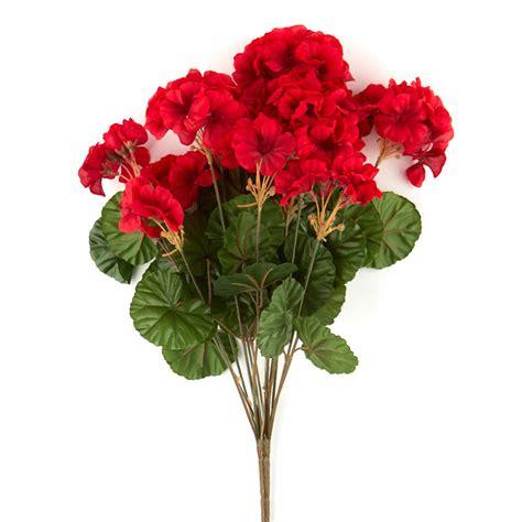 red artificial geranium bush bushes  bouquets