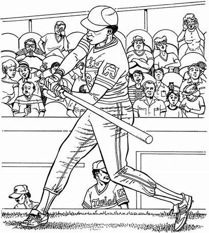 Coloring Baseball Pages Twins Minnesota Field League