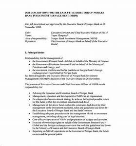 9 chief executive officer job description templates With ceo job description sample
