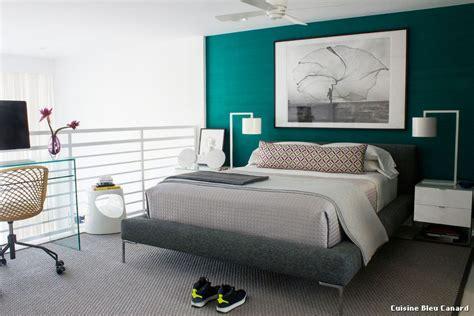 chambre moderne bleu canard design de maison