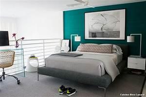 delightful peinture mur chambre adulte 8 chambre bleu With peinture mur chambre adulte