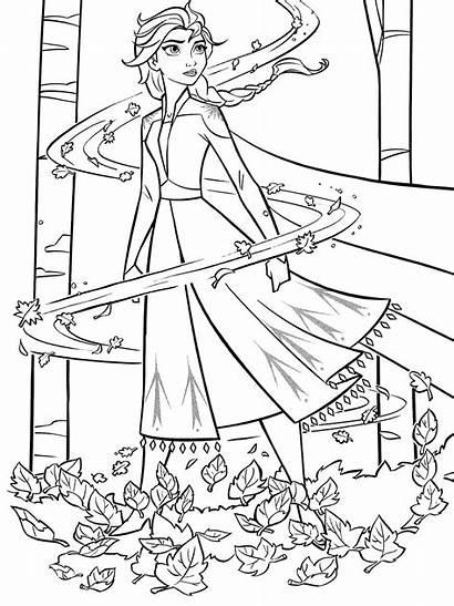 Coloring Elsa Frozen Wind Anna Disney Spirit