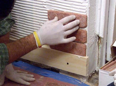 how to install a wall how to install brick veneer on a wall how tos diy
