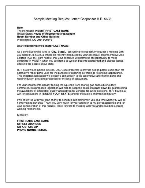 business letter format requesting information